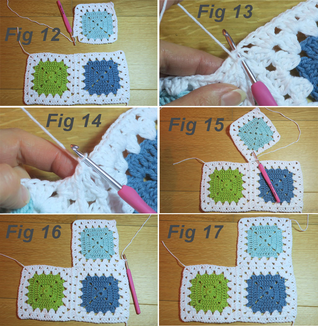granny stitch join tutorial