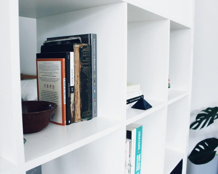 KALLAX shelves in tiny house
