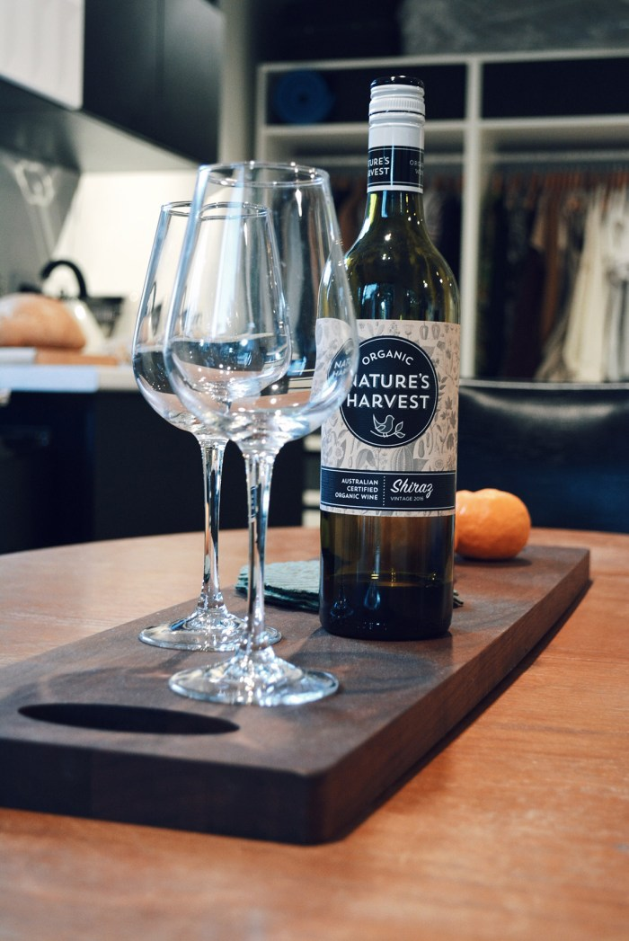 Eco home dining table organic wine