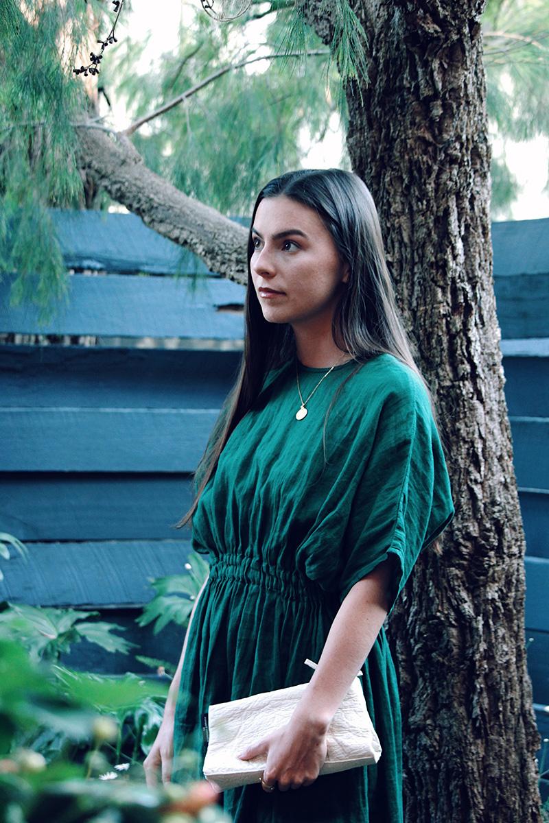 Seaside Tones Green Dress