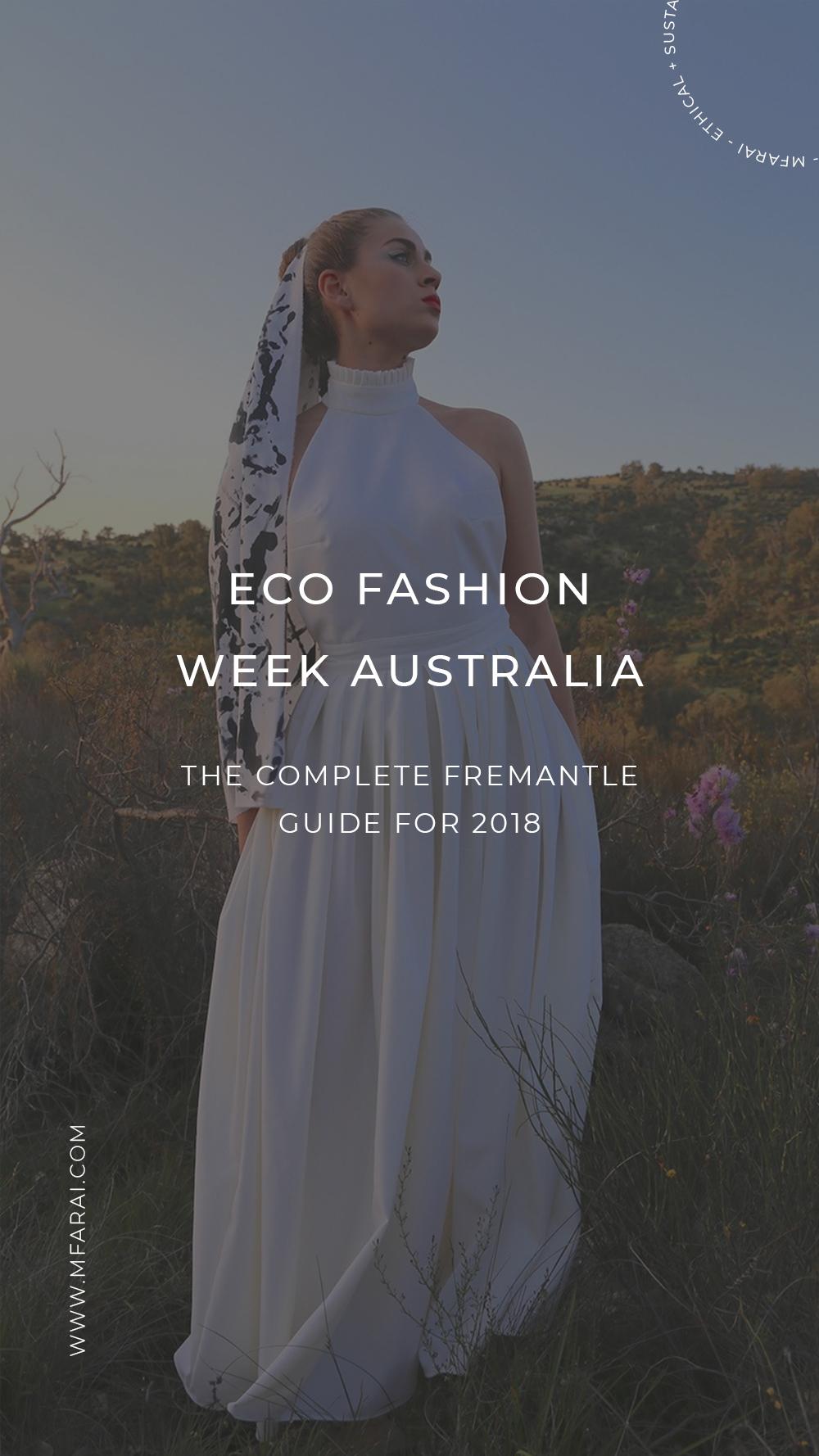 Eco Fashion Week Australia Fremantle Guide 2018