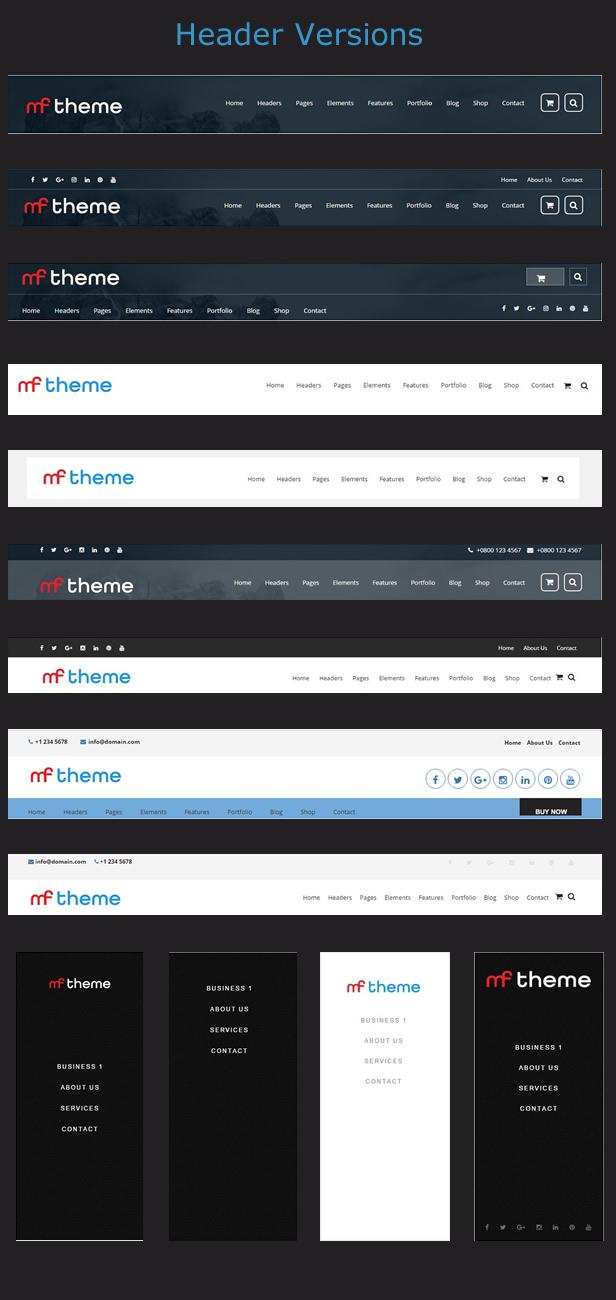 Premium WordPress Themes - Headers