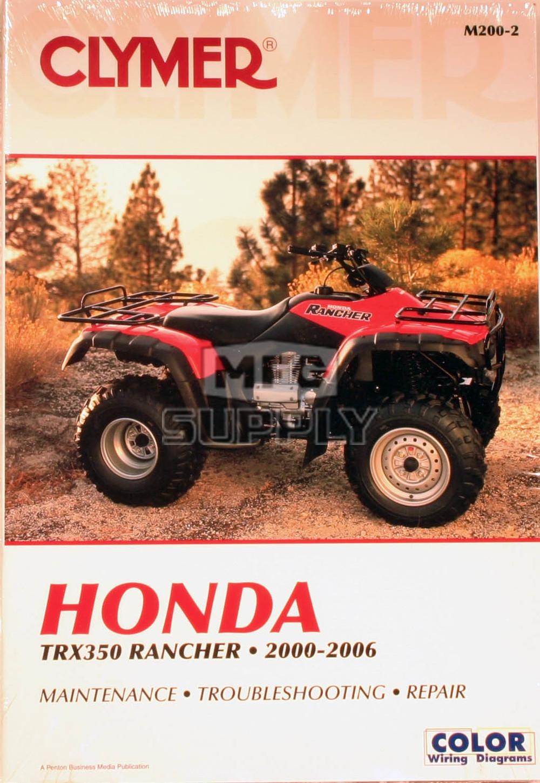 hight resolution of cm200 00 06 honda trx350 rancher all models repair maintenance manual