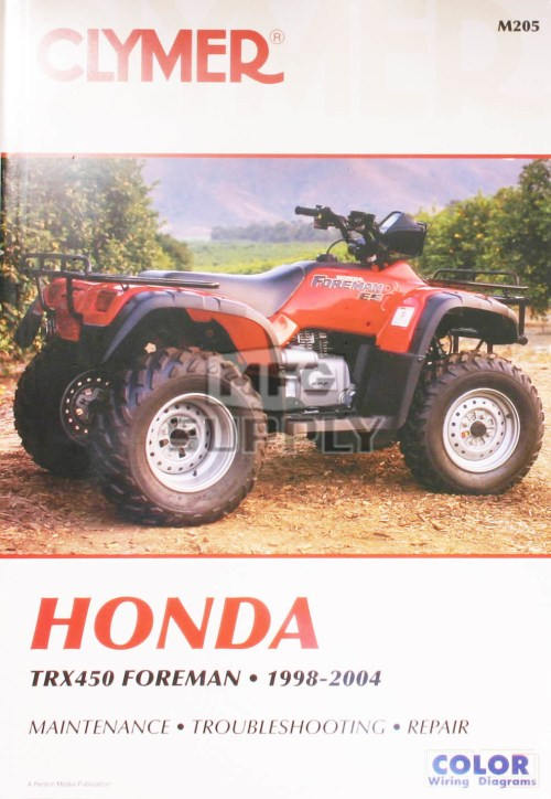 small resolution of cm205 99 04 honda trx450 foreman repair maintenance manual