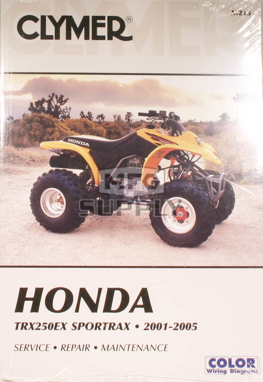 hight resolution of cm215 01 05 honda trx250ex sportrax repair maintenance manual