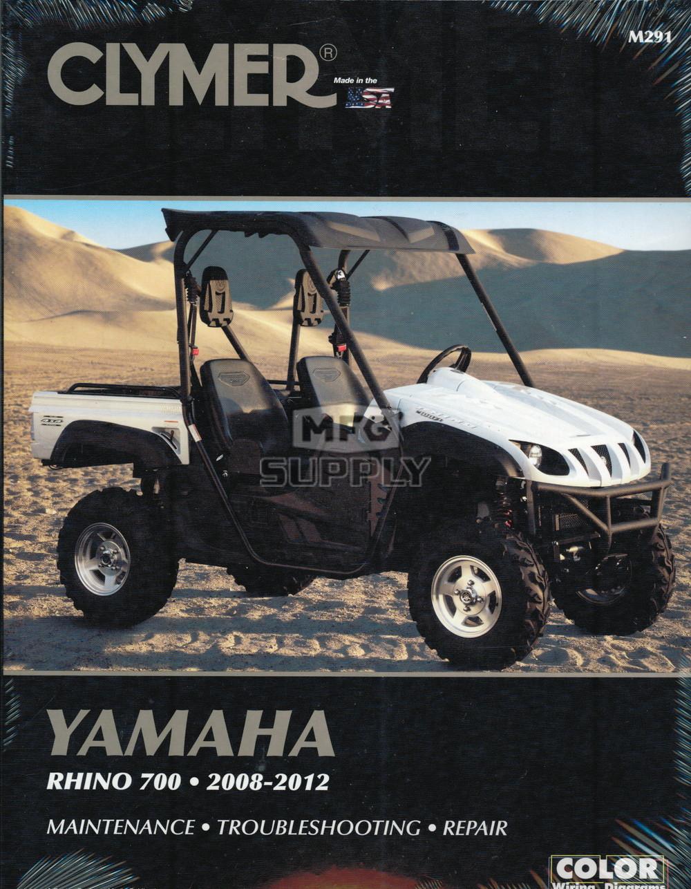 medium resolution of cm291 08 12 yamaha rhino 700 repair maintenance manual atv color wiring diagram 08 rhino fuel injected