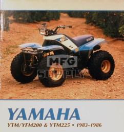 cm394 83 86 yamaha ytm yfm200 225 repair maintenance manual rh mfgsupply com 1985 yamaha 225 [ 1000 x 1458 Pixel ]