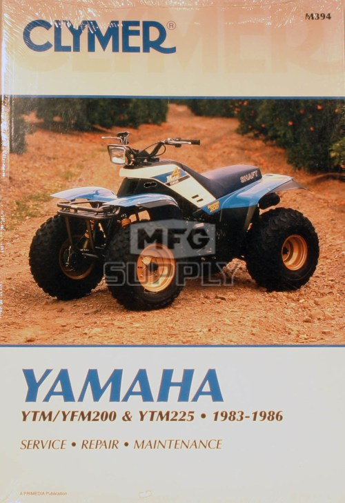 small resolution of cm394 83 86 yamaha ytm yfm200 225 repair maintenance manual rh mfgsupply com 1985 yamaha 225