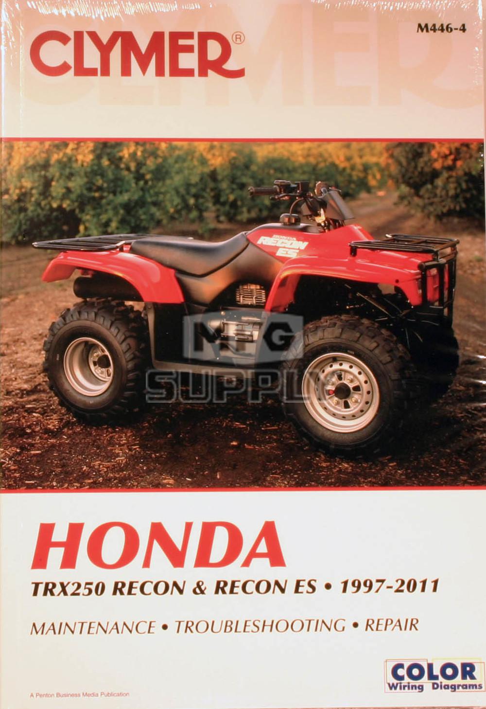 hight resolution of cm446 97 07 honda trx250 es recon repair maintenance manual