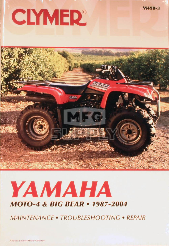 hight resolution of cm490 87 04 yamaha moto 4 big bear repair maintenance manual