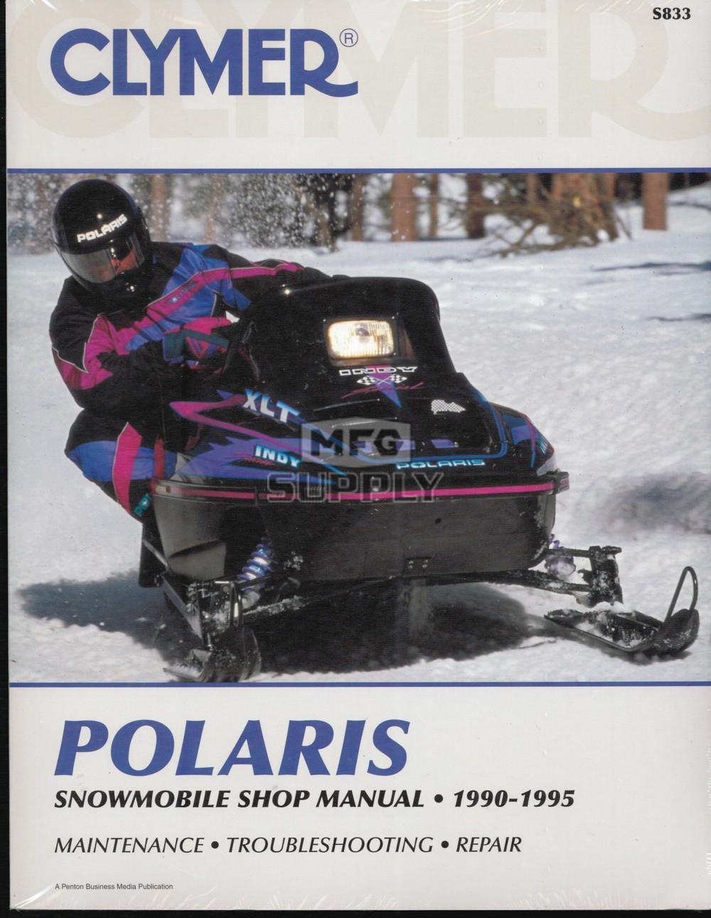 medium resolution of cs833 90 95 polaris snowmobile shop manual