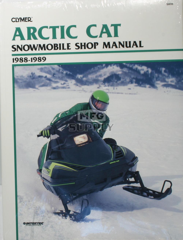 medium resolution of cs835 88 89 arctic cat wildcat el tigre ext snowmobile shop manual