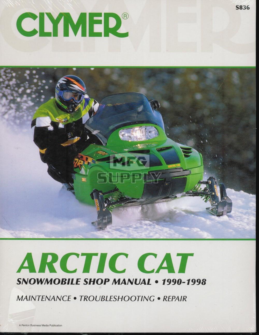 medium resolution of cs836 90 98 arctic cat snowmobile shop manual