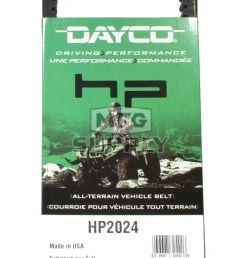 hp2024 dayco high performance utility vehicle belt fits kawasaki mule 1000 2010  [ 758 x 1600 Pixel ]