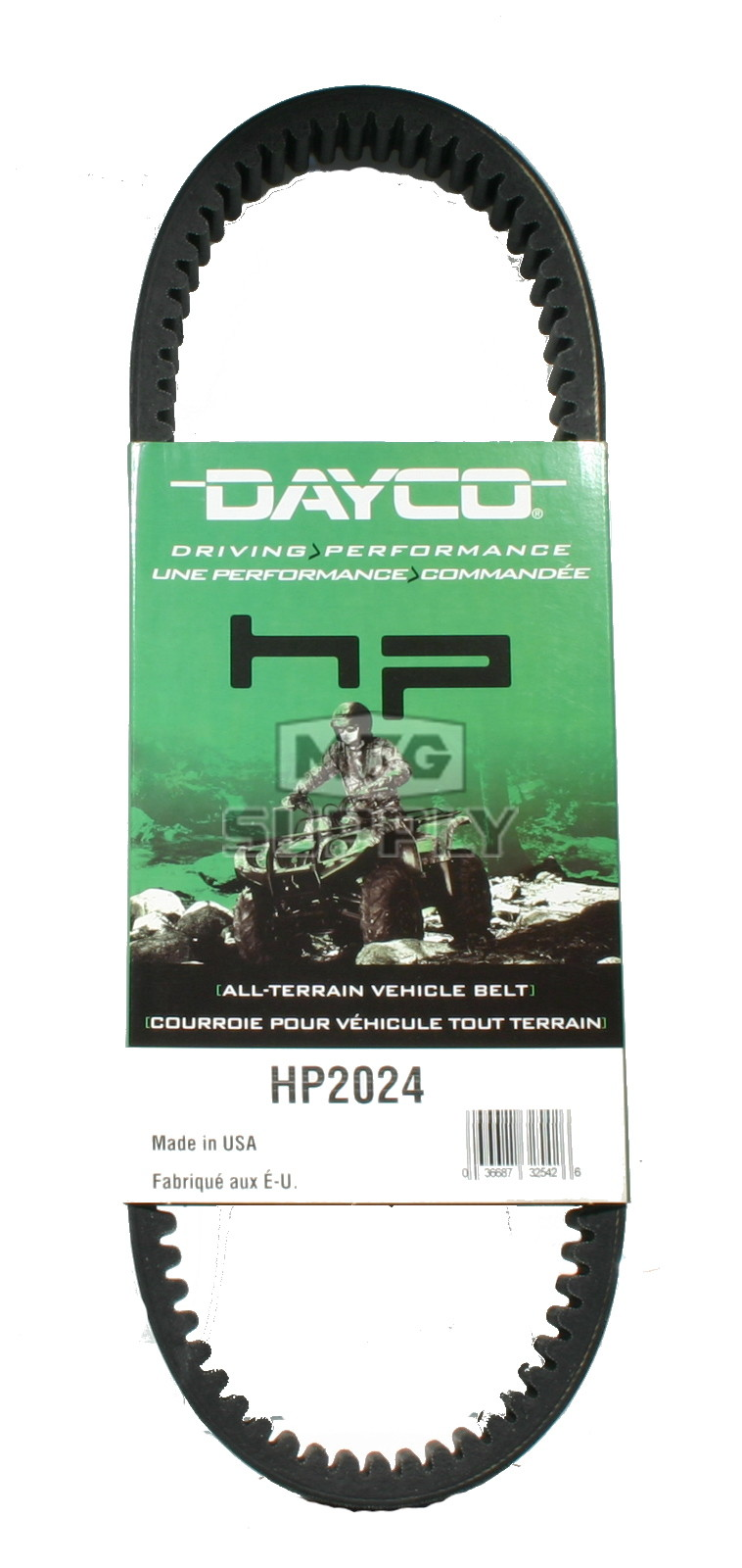 hight resolution of hp2024 dayco high performance utility vehicle belt fits kawasaki mule 1000 2010