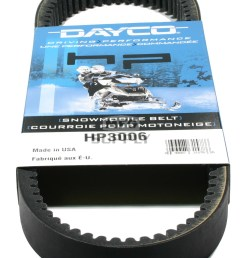 arctic cat dayco hp high performance belt fits many 73 81 arctic cat snowmobiles  [ 1000 x 1407 Pixel ]