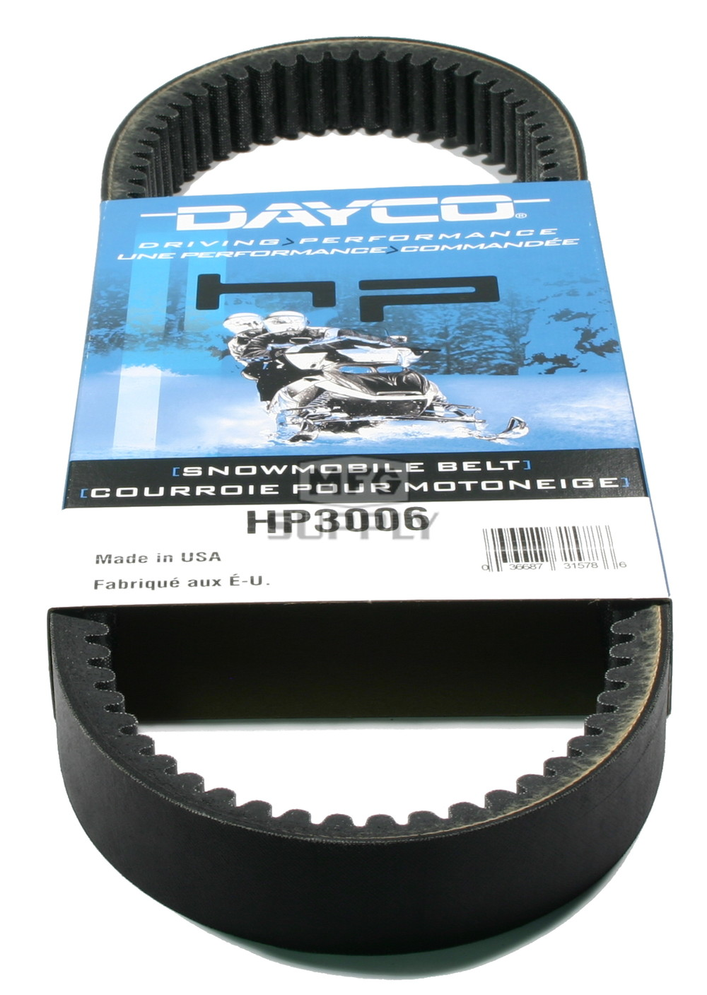 medium resolution of arctic cat dayco hp high performance belt fits many 73 81 arctic cat snowmobiles