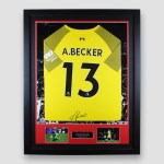 Liverpool-home-2018-19-keeper-shirt-signed-by-Becker-framed