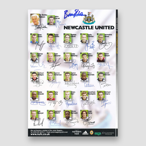 42-Bobby-Robson-signed-Newcastle-United-autograph-sheet