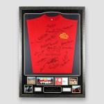 Very-'RARE'-England-1966-World-Cup-Retro-Shirt-&-Photo-Display-Alan-Ball