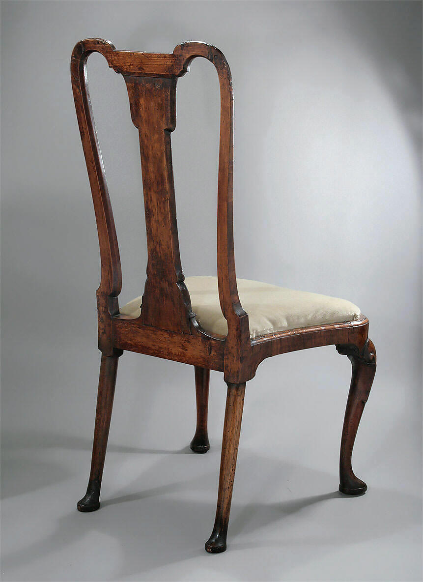 antique queen anne chair reclining lift george i walnut veneered side england c1710 1715 m ford creech antiques fine arts memphis tn