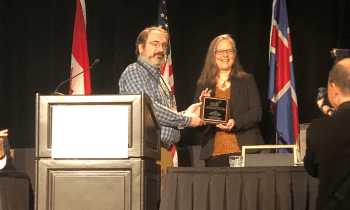 Shelley MacDermid Wadsworth receives the Felix Berardo Scholarship Award for Mentoring