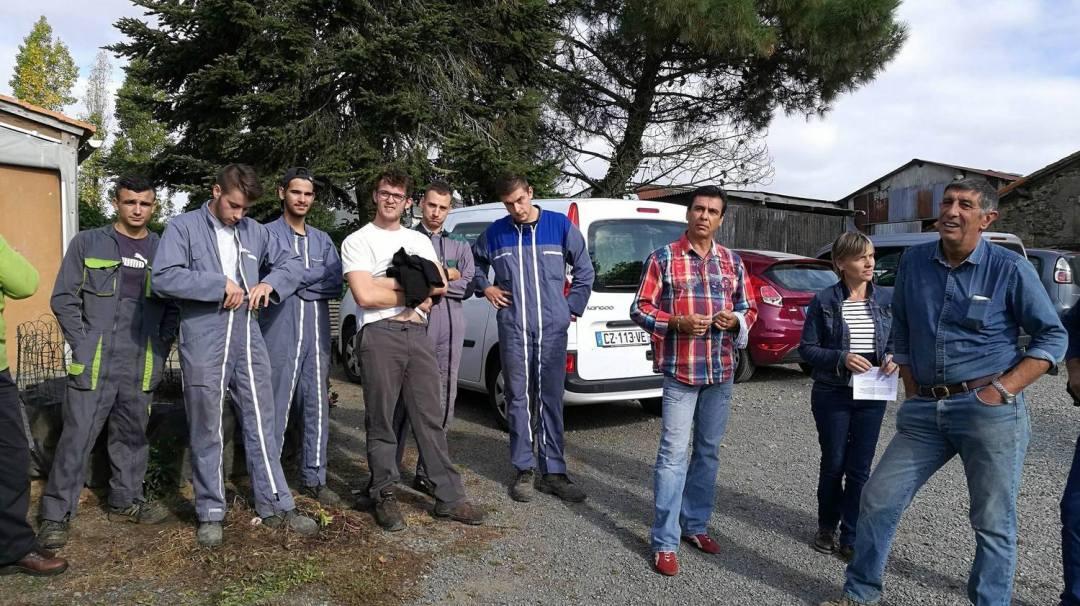 MSA Sécurité au travail pour les Apprentis Technicien Agricole du CFA MFR Puy-Sec