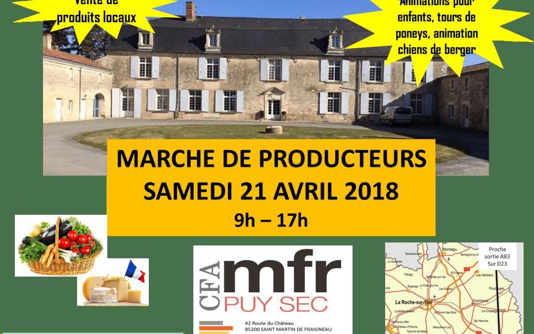 La MFR de Puy Sec fait son marché fermier