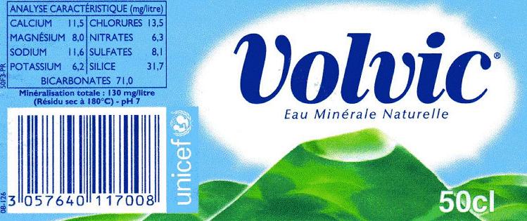 Composition de l'eau de Volvic