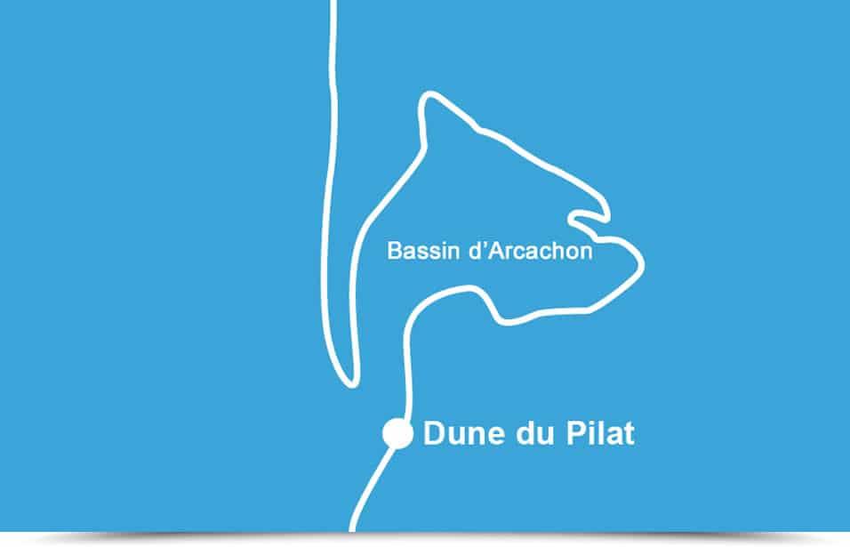 Les mensurations actuelles de la dune du Pilat:2,9 km de long,616 m de large,110 m de hauteur