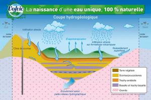 Le cycle de l'eau de Volvic