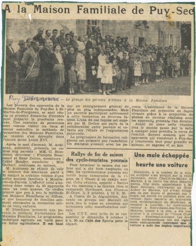 Archives anciens élèves mfr puy-sec 1959 2 rentrées