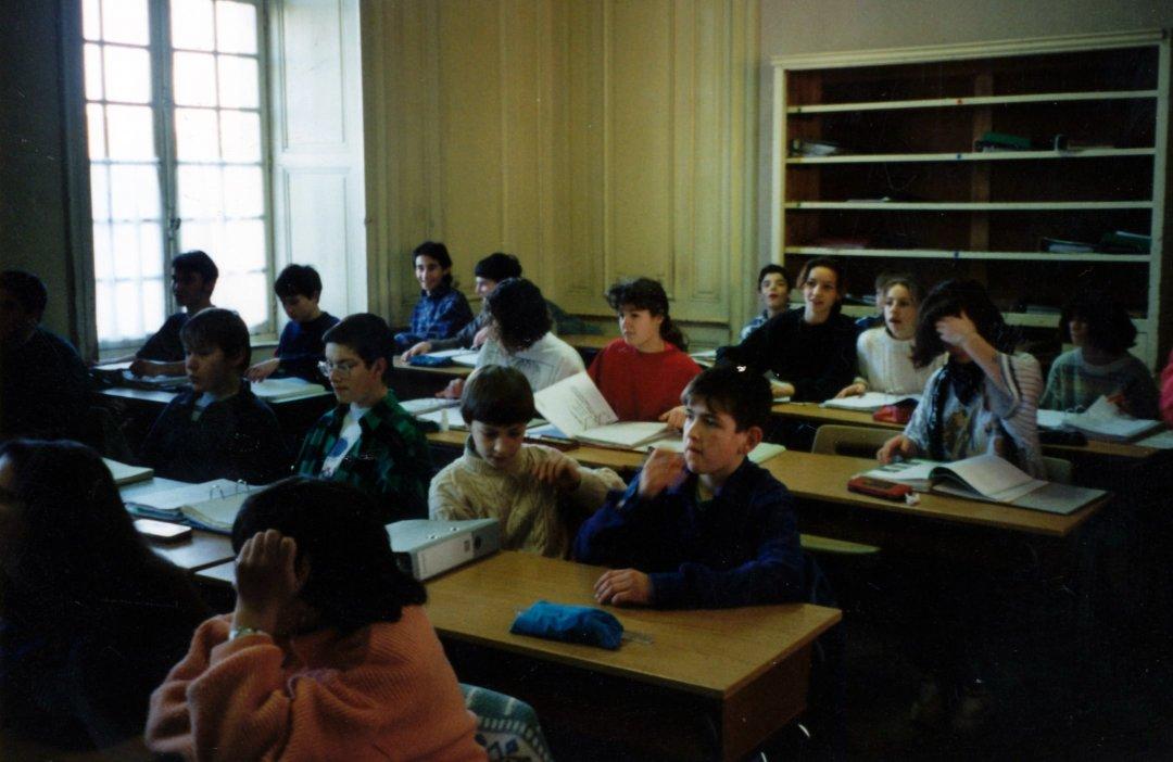 Pascal GENAUZEAU et sa classse