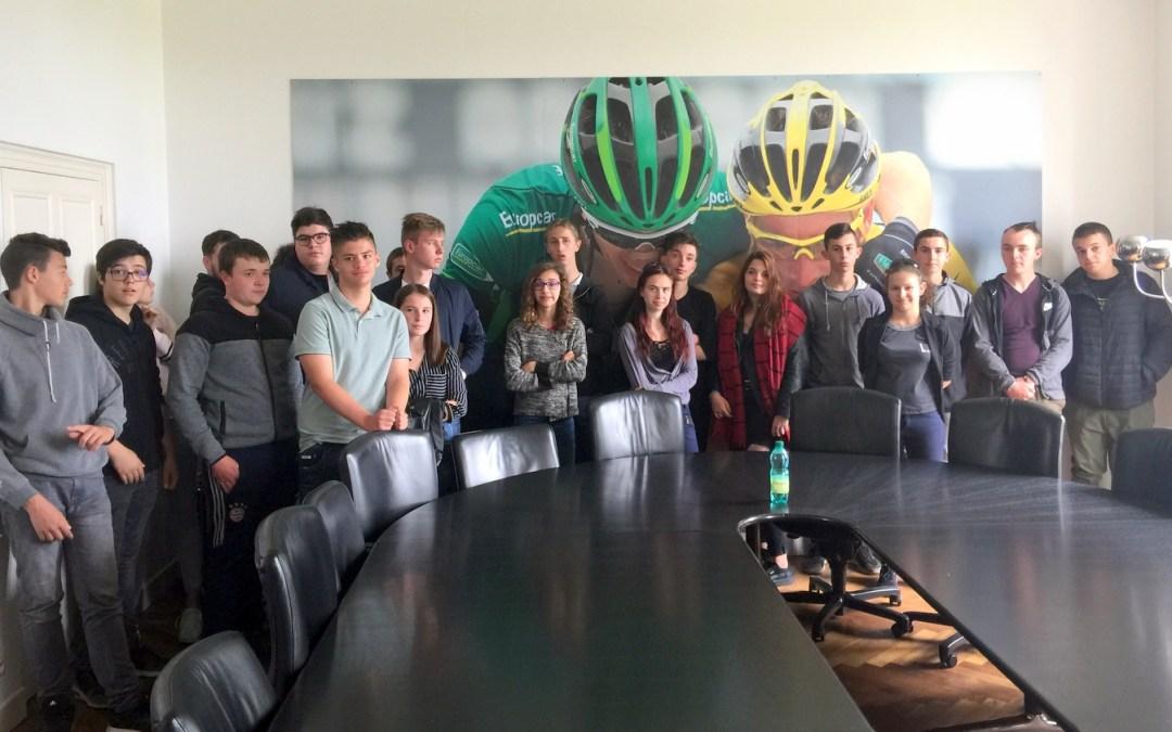 Les 3e de la MFR au cœur de la Team Direct Energie
