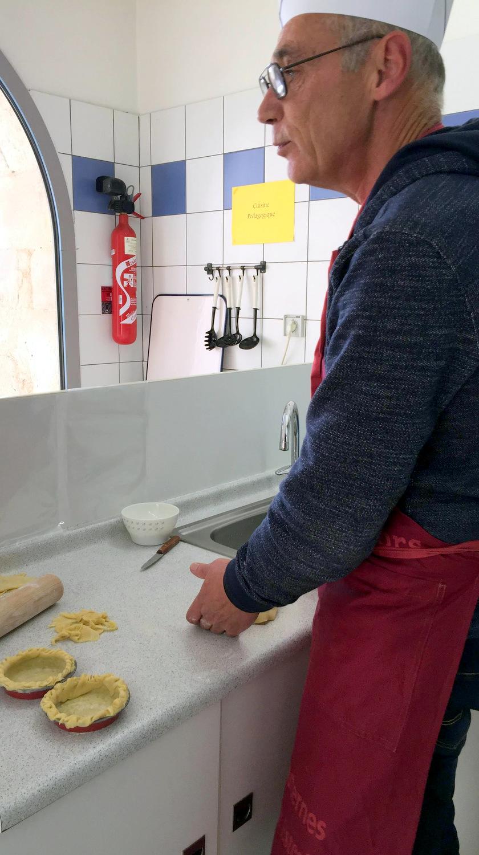 Atelier Patisserie J1 tarte au chocolat et sa farandole de fruits CFA MFR Puy-Sec Formations Adultes (37)