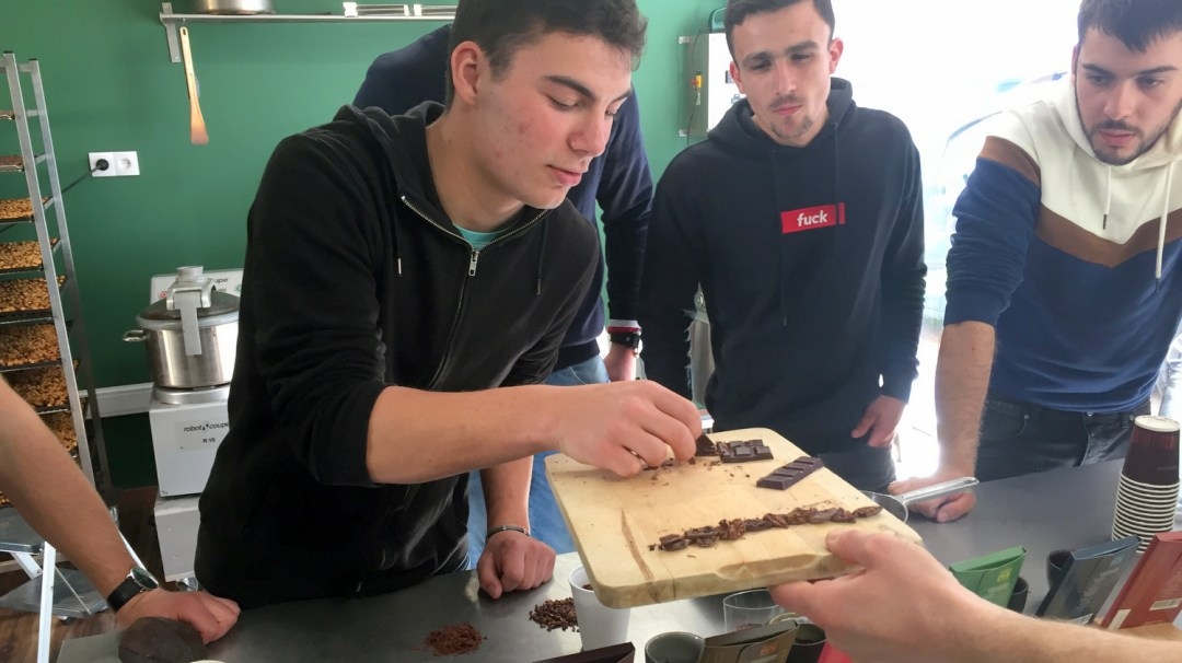 Dégustation classe TA Chocolat Legast Belgique