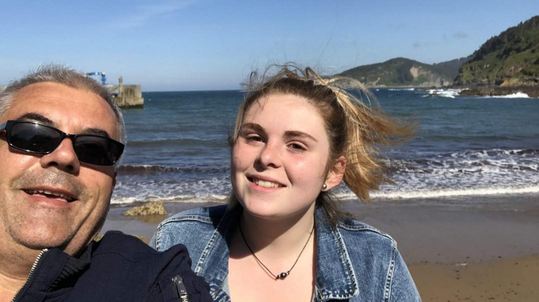 Le Maître et l'élève... plage Tazones