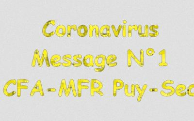 Message 1 : Informations coronavirus