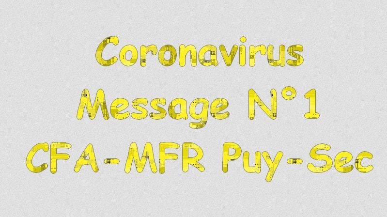 Message 1 : Informations coronavirus