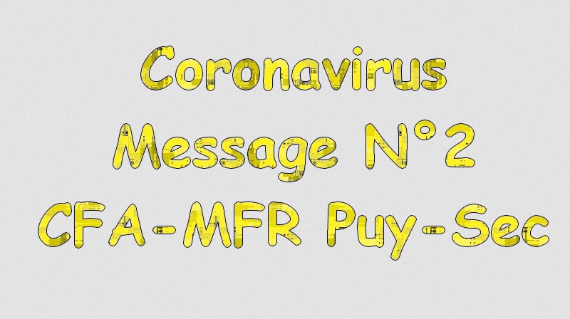 Message 2 : Coronavirus et apprentis