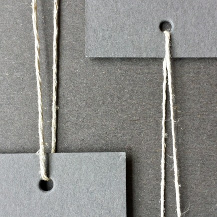 A photograph of 6-ply hemp (at left) and 3-ply hemp (at right) to illustrate the comparative difference in thickness.