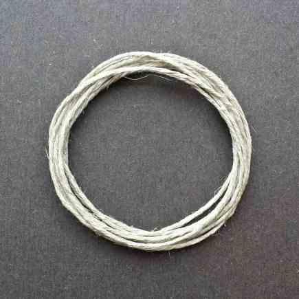 A coil of 6-ply hemp.