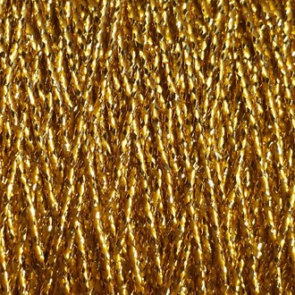 A spool of gold metallic lamé.