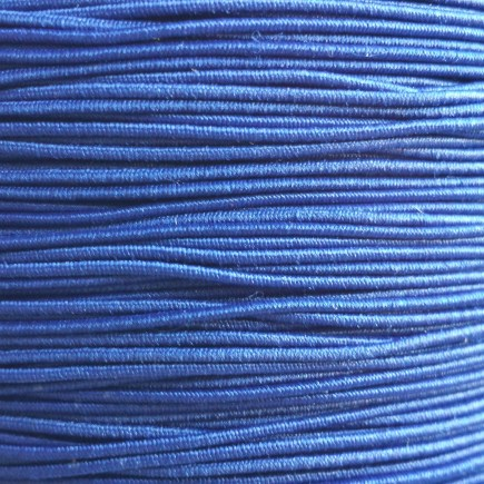 A spool of our blue non-fray elastic.