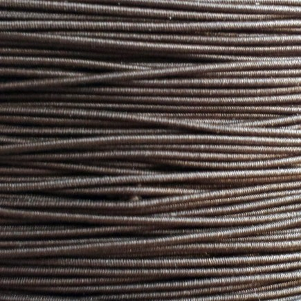 A spool of our brown non-fray elastic.
