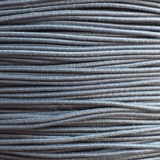 A spool of our gray non-fray elastic.