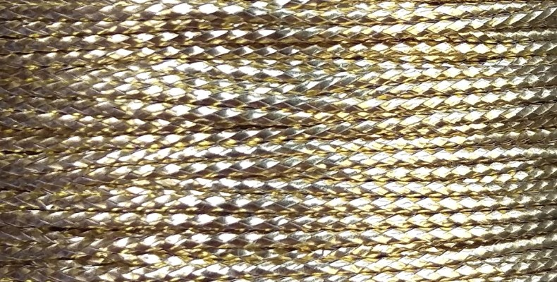 An image of a spool of our new gold braid.