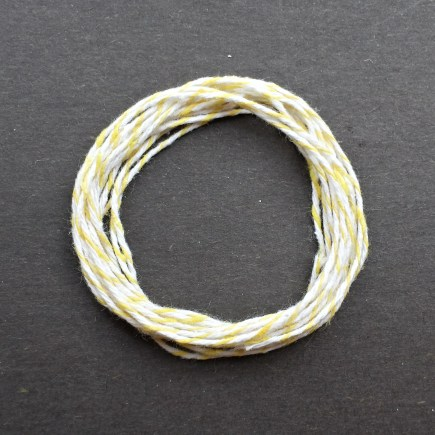 A coil of our yellow bakery twine.