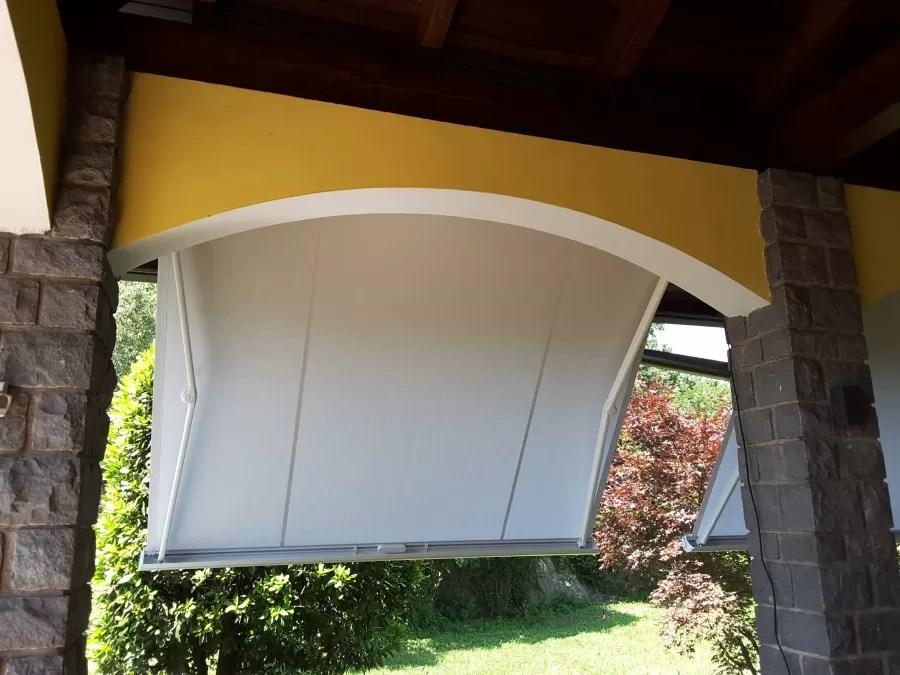 Tenda sole per porta con anelli da esterno balcone righe. Tenda Da Sole Con Cassonetto A Bracci Estensibili 300 X 200 Mf Tende Da Sole Torino