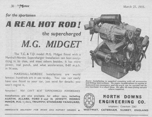 MG TD Adverts